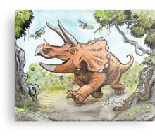 Happy Triceratops Metal Print