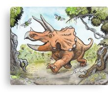 Happy Triceratops Canvas Print