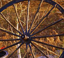 the Old Wagon Wheel by Ruth Lambert