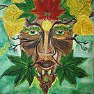 Green Man - Autumn by TriciaDanby