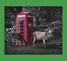 Deers @ Red Telephone Box (Kiosk 6) Kids Tee
