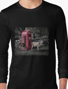 Deers @ Red Telephone Box (Kiosk 6) Long Sleeve T-Shirt