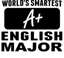 World's Smartest English Major by GiftIdea