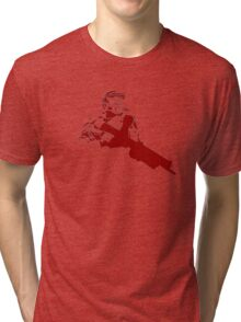 Halo Master Chief red Tri-blend T-Shirt