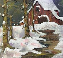 WINTER BARN by LJonesGalleries