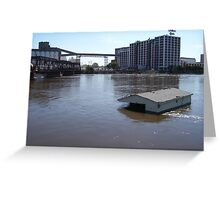 Quaker Oats and Houseboat Greeting Card
