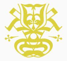 Typo Samurai - Yellow One Piece - Long Sleeve