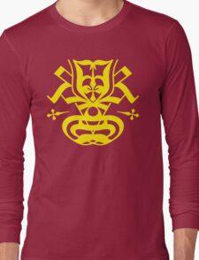 Typo Samurai - Yellow Long Sleeve T-Shirt