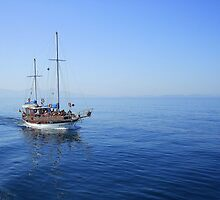 Sailing the Tranquil Blue Aengean Sea by Honor Kyne