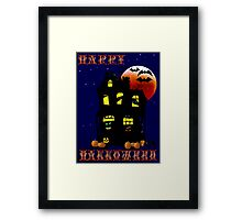 Happy Halloween Mansion Framed Print