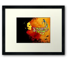 extracting colors Framed Print