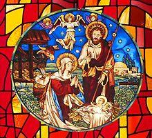 Jesus Birth Stained Glass by muniralawi