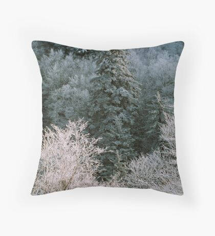 ICEY TREES Throw Pillow