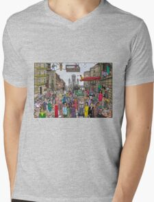 Funny TV and movie stars Mens V-Neck T-Shirt