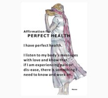 Affirmation for PERFECT HEALTH Kids Clothes
