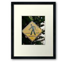 Hula Hoop Crossing Framed Print