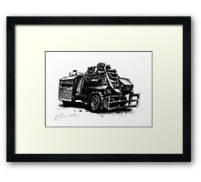 Saxon Armoured Personnel Carrier Framed Print