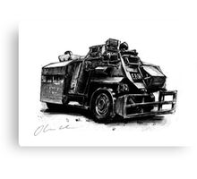 Saxon Armoured Personnel Carrier Canvas Print