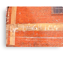 Live Laugh Love Brick Building Metal Print