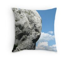 STONE ANGEL PROTECTING THE VALLEY Throw Pillow