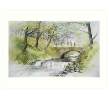 Crossing the Stream Art Print