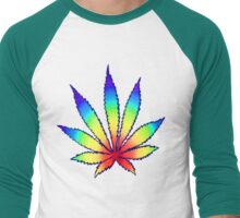 Rainbow Dope Leaf Men's Baseball ¾ T-Shirt