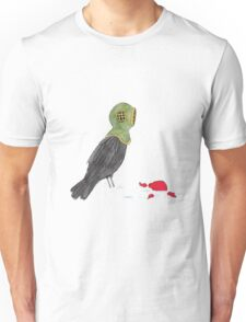 Crow Prepares to Dive Unisex T-Shirt