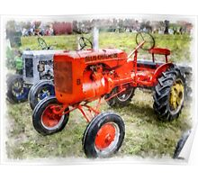 Vintage Allis-Chalmers Tractor Watercolor Poster
