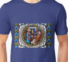 Holy Nativity Stained Glass Unisex T-Shirt