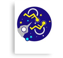 DISABLED IN SPACE Canvas Print