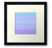Rose-Blue-Violet Stripes Framed Print