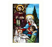 The Birth Stained Glass Art Print