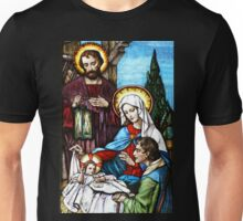 The Birth Stained Glass Unisex T-Shirt