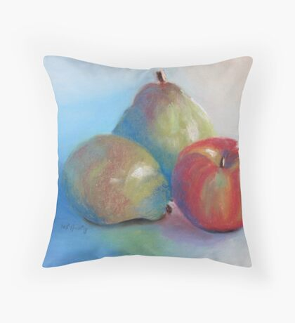 Pears and Apple Throw Pillow