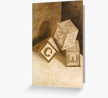 Blocks (Tumblin') Greeting Card