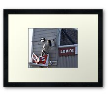 Now This Guy Likes His Levi's Framed Print