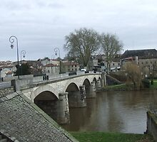 River Vienne - Confolens Bridge by Colin Morley