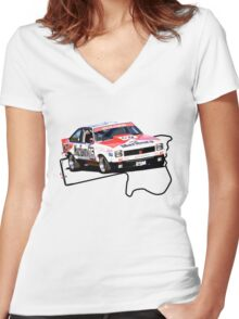 1979 A9X Torana Hatchback - Bathurst / Brock Women's Fitted V-Neck T-Shirt