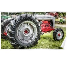 Vintage Ford Tractor Watercolor Poster