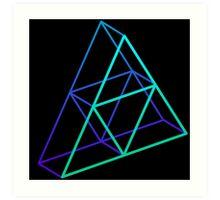 Triforce 3D Serene Art Print