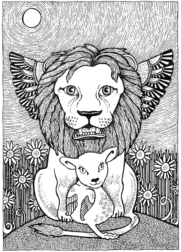 And So The Lion Fell in Love with The Lamb by Anita Inverarity
