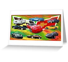Corvettes 1953 to 2010 Greeting Card