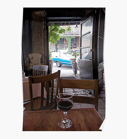 French Restaurant View Poster