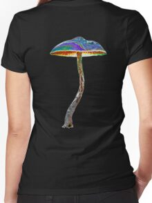 Psychedelic shroom Women's Fitted V-Neck T-Shirt