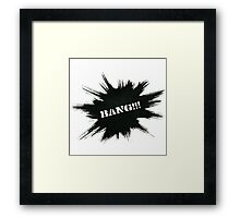 Black Painted Explosion with Bang Word Framed Print