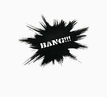 Black Painted Explosion with Bang Word Unisex T-Shirt