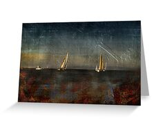 Ship Building in The Bay  Greeting Card