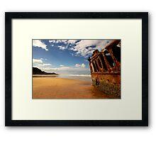 Maheno Shipwreck Framed Print