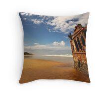 Maheno Shipwreck Throw Pillow