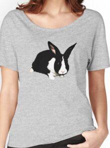 BLACK RABBIT CUTE  Women's Relaxed Fit T-Shirt